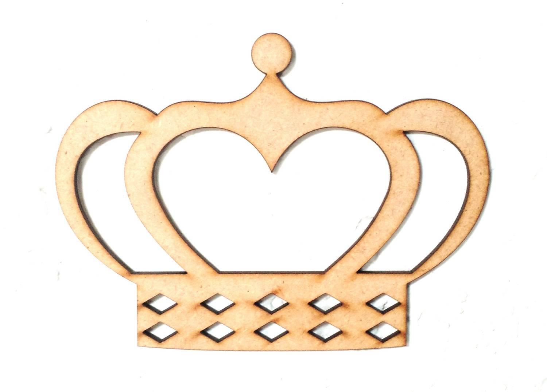 a2dee9c010 Recorte Coroa Coração 30cm